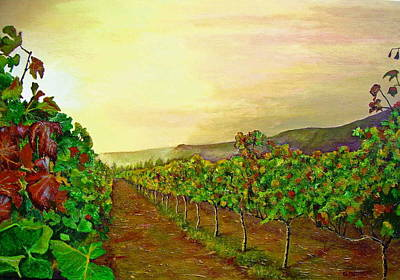 Impressionistic Vineyard Painting - Autumn At Steenberg by Michael Durst