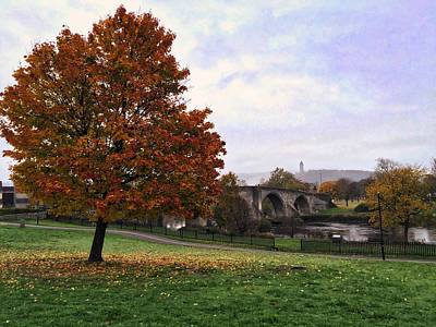 Autumn At Stirling Bridge Art Print by RKAB Works