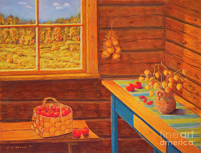 Autumn At The Cottage Art Print by Veikko Suikkanen