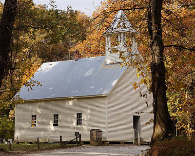 Photograph - Autumn At The Country Church by TnBackroadsPhotos