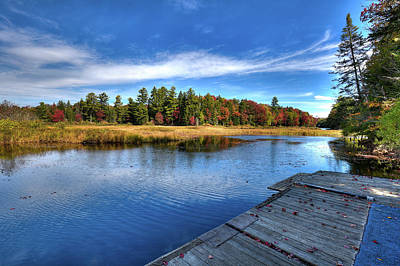 Mountainmen Photograph - Autumn At The Dock by David Patterson