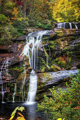 Photograph - Autumn At The Falls by Debra and Dave Vanderlaan