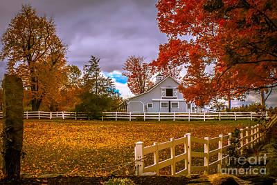 Autumn At The Farm Art Print