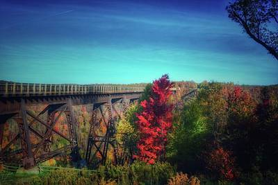 Kinzua Photograph - Autumn At The Kinzua Skywalk  by Shelley Smith