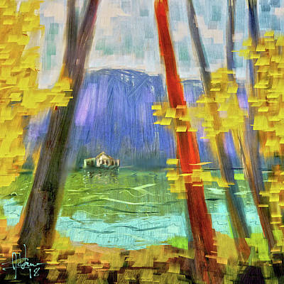 Digital Art - Autumn At The Lake by Jim Vance