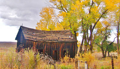 Photograph - Autumn At The Old House by Marilyn Diaz