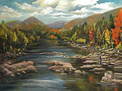 Painting - Autumn At The Pemi From Thornton New Hampshire by Nancy Griswold