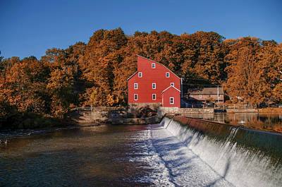 Digital Art - Autumn At The Red Mill - Clinton New Jersey by Bill Cannon