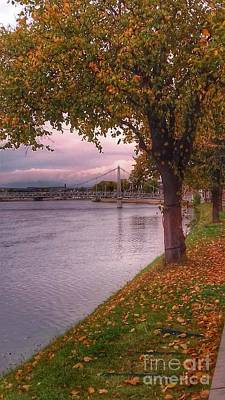 Photograph - Autumn At The River Ness 2 by Joan-Violet Stretch