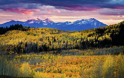 Photograph - Autumn At The Top Of The World by TL Mair