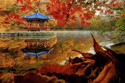 Photograph - Autumn At Uhwajeong Pavillon by Roy Cruz