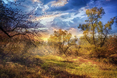 Photograph - Autumn Awakening At Dawn by Debra and Dave Vanderlaan