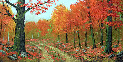 Autumn Back Road Art Print