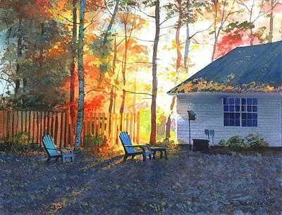 Autumn Backyard Art Print