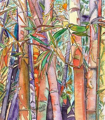 Purple Painting - Autumn Bamboo by Marionette Taboniar