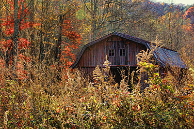 Photograph - Autumn Barn By H H Photography Of Florida by HH Photography of Florida