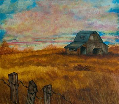 Painting - Autumn Barn by Elizabeth Mundaden