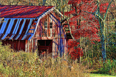 Photograph - Autumn Barn by HH Photography of Florida