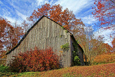 Photograph - Autumn Barn In Appalachia by HH Photography of Florida