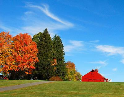 Photograph - Autumn Barn by Mark Wiley
