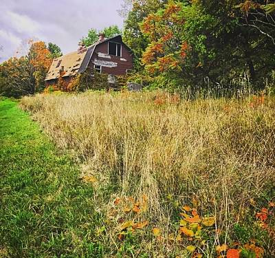 Photograph - Autumn Barn by Mike Valletta