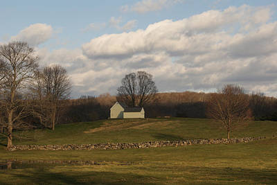 Photograph - Autumn Barn On The Meadow by Margie Avellino