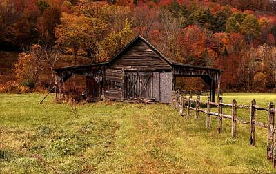 Photograph - Autumn Barn by Sherman Perry