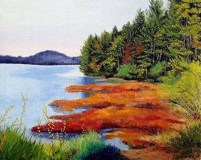 Autumn Bay Marsh Art Print by Laura Tasheiko