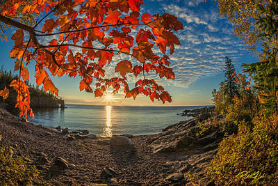 Photograph - Autumn Bay Near Shovel Point by Rikk Flohr