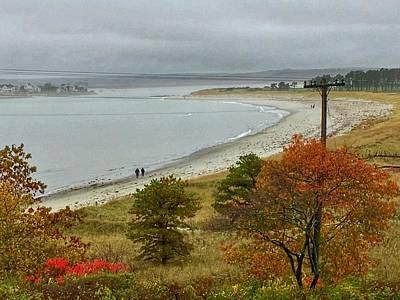 Photograph - Autumn Beachcombers  by Patricia E Sundik
