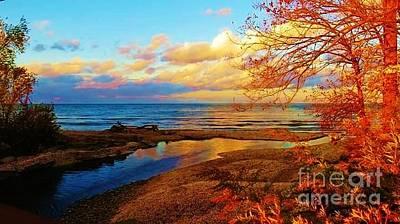 Photograph - Autumn Beauty Lake Ontario Ny by Judy Via-Wolff