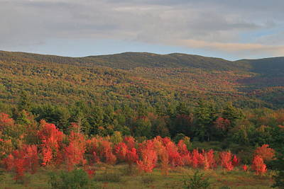 Photograph - Autumn Begins Around Mount Monadnock by John Burk