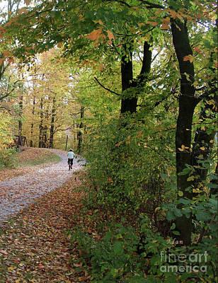 Photograph - Autumn Bicycling Vertical One by Felipe Adan Lerma