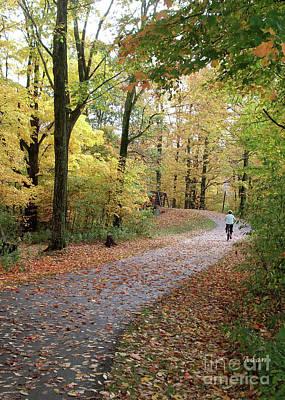 Photograph - Autumn Bicycling Vertical Two by Felipe Adan Lerma