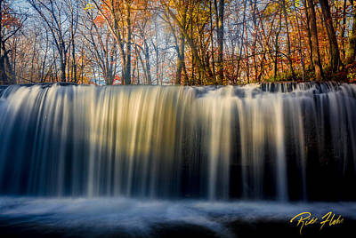 Photograph - Autumn Bigwoods Waterfall by Rikk Flohr