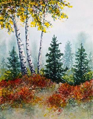 Painting - Autumn Birch by Carolyn Rosenberger