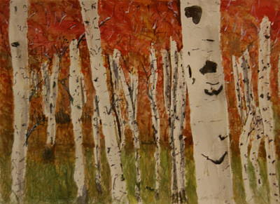 Autumn Birch Forest Art Print