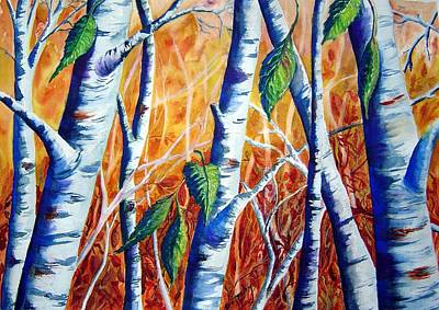 Autumn Birch Art Print