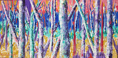 Painting - Autumn Birch by Lisa Boyd