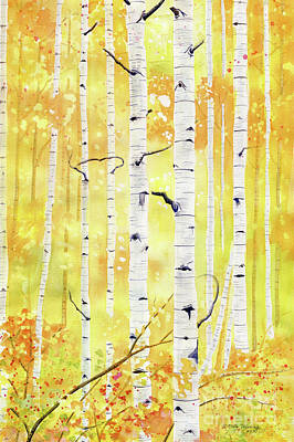 Painting - Autumn Birch by Melly Terpening