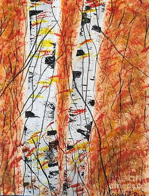 Painting - Autumn Birch by Nancy Pace