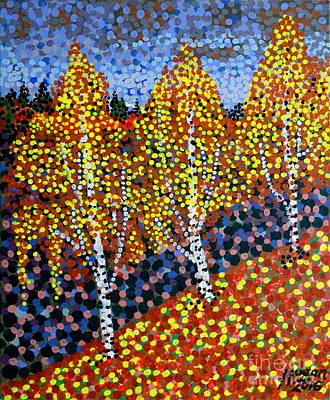 Autumn Birches Original by Alan Hogan