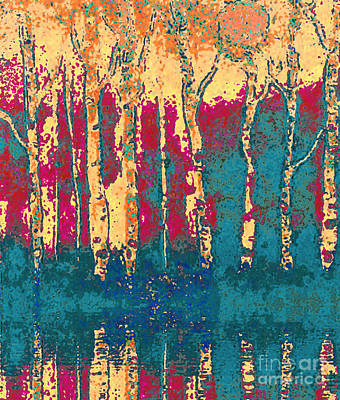 Autumn Birches Art Print by Holly Martinson
