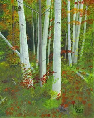 Autumn Birches Art Print by Laurel Ellis