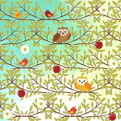Wild Bird Digital Art - Autumn Birds by Gaspar Avila