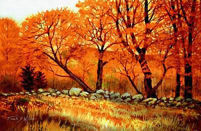 Warm Colors Painting - Autumn Blaze by Frank Wilson