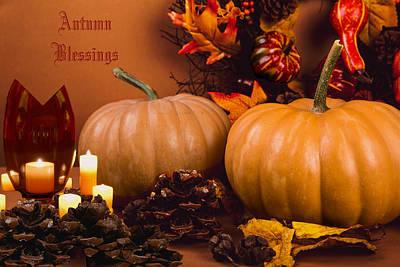 Wall Art - Digital Art - Autumn Blessings by Cynthia Leaphart