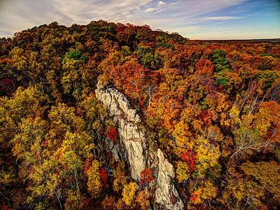 Photograph - Autumn Bliss by Mid Atlantic Aerial