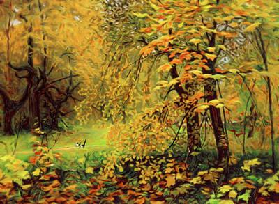 Decor Mixed Media - Autumn Bliss Of Color by Georgiana Romanovna