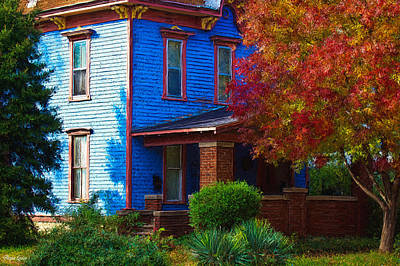 Photograph - Autumn Blue House by Anna Louise